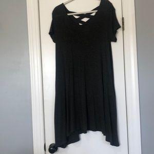 Gray dress with crisscross on back